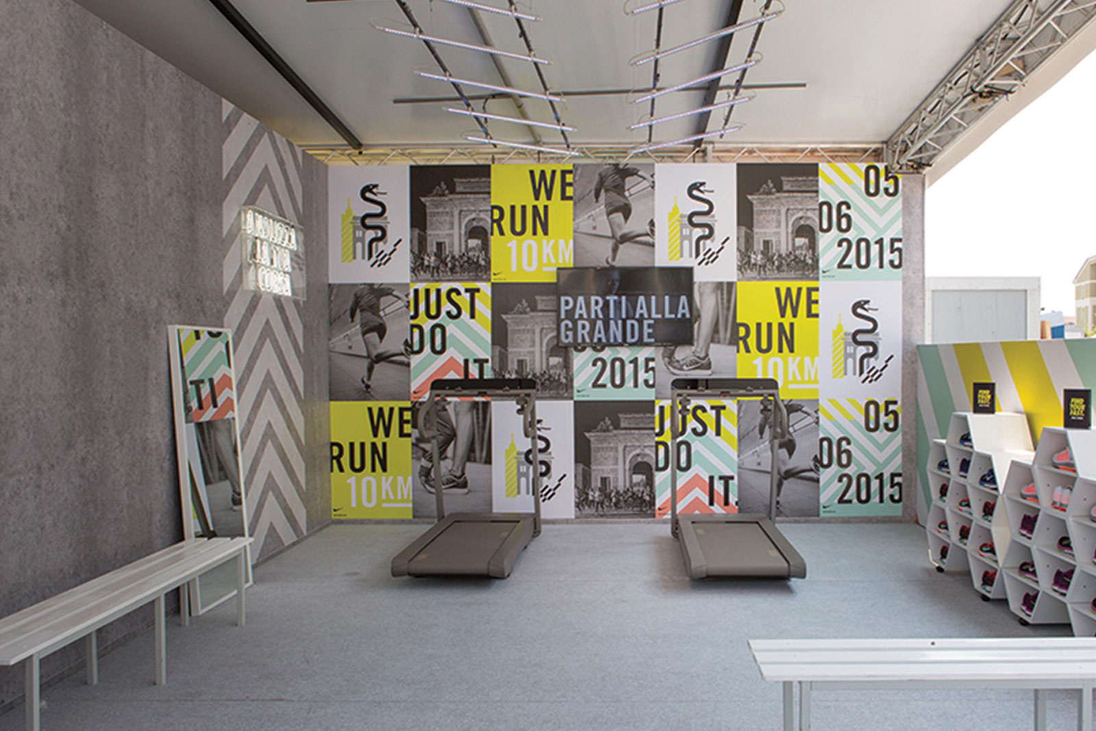 low priced f51f8 99d24 Design and Creative Direction for the annual running event dedicated to  women. The activity revolved around a custom-designed temporary pop-up store  in ...